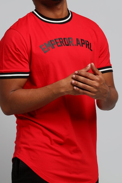 Emperor Apparel Baseball T-Shirt Red