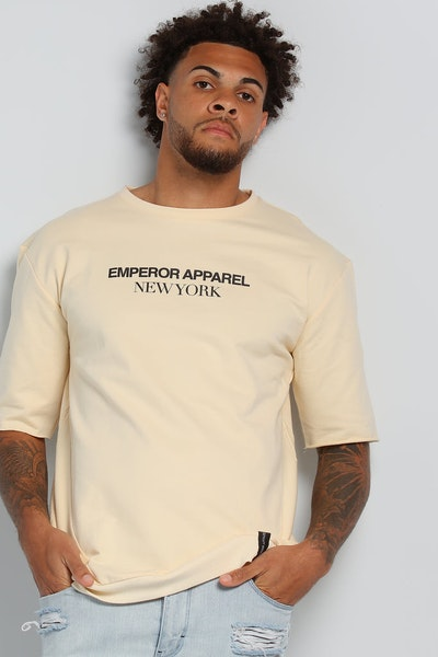 Emperor Apparel Oversize T-Shirt Cream