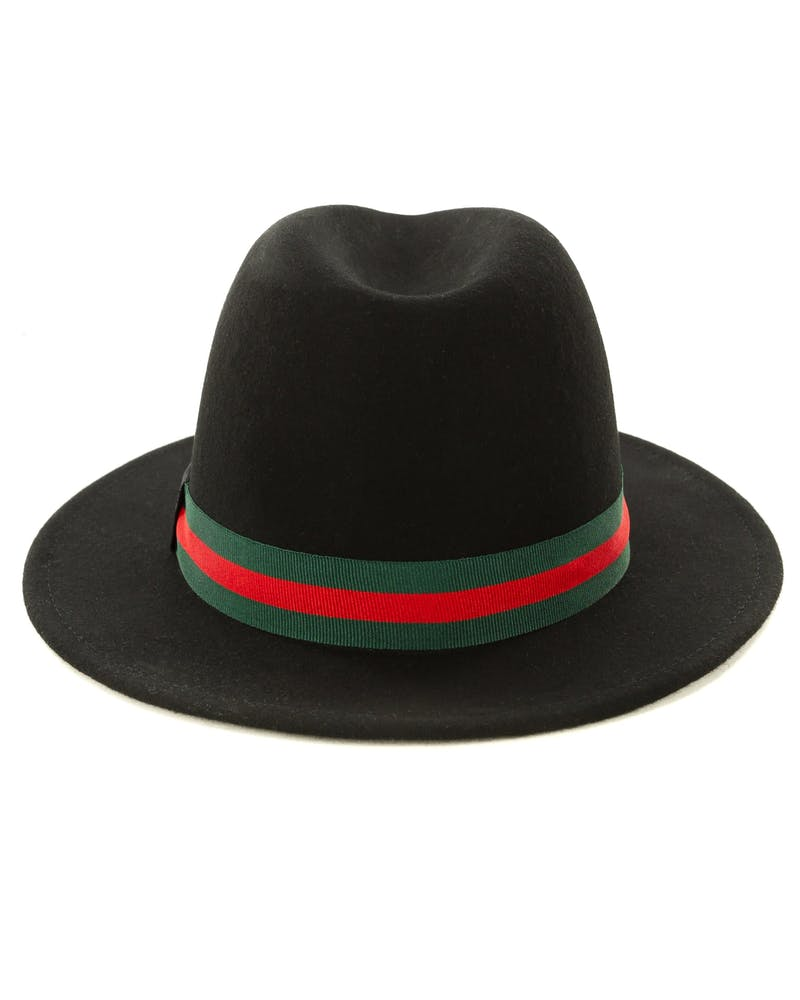 Saint Morta Prestige Fedora Black/Red/Green