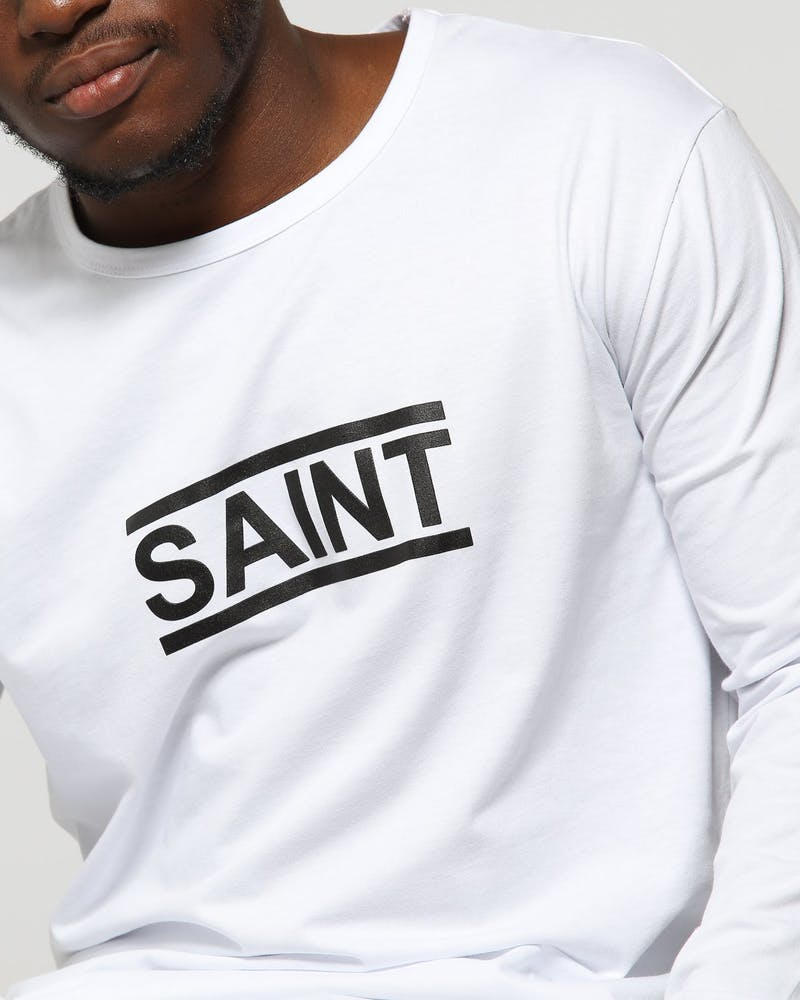 Saint Morta Equal El Duplo LS Tee White/Black