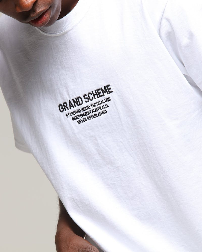 Grand Scheme Standard Issue Tee White