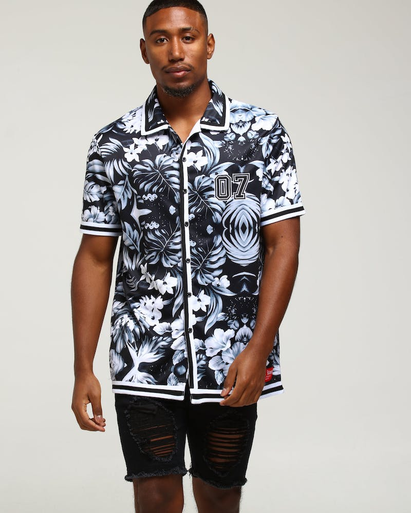 Last Kings Flow State Button Up Shirt Black/Floral