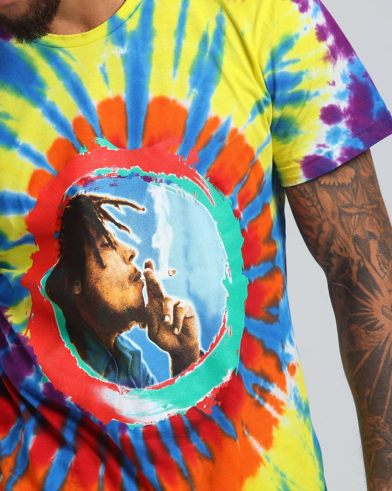 Bob Marley Kaya I Feel So High SS Tee Black/Tie Dye