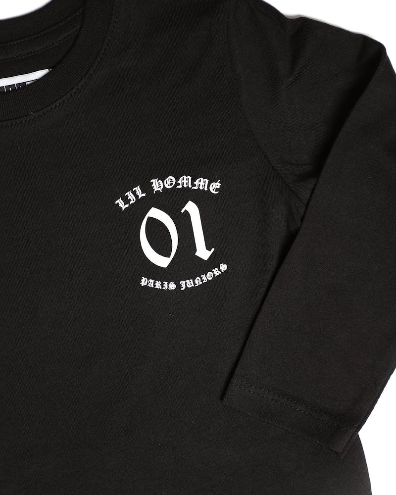 Lil Homme Ancient Long Sleeve Tee Black
