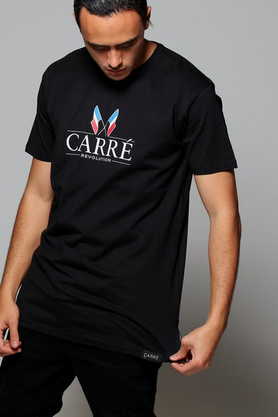 Carré Revolution Divise SS Tee Black