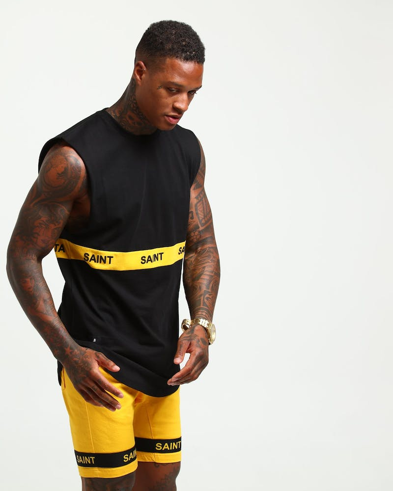 SAINT MORTA FIRST CLASS MUSCLE BLACK/MUSTARD