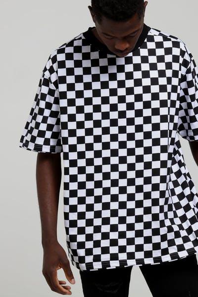 New Slaves Checkerboard SS Tee Black White 394ccbe5f7498