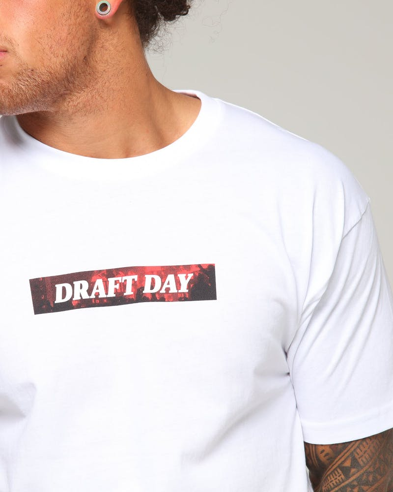 Draft Day Burn It Down Tee White