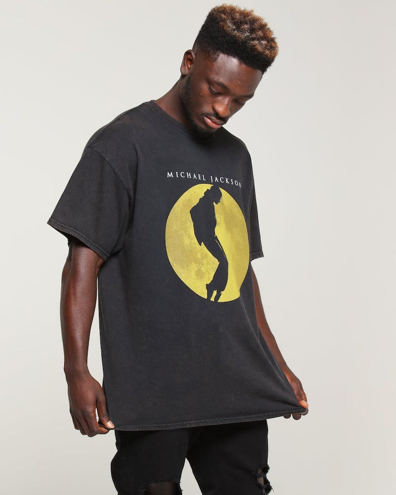 Michael Jackson Moon Tee Black