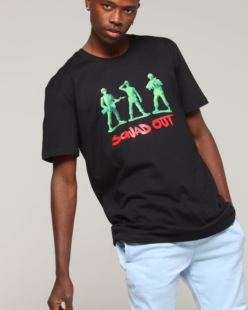 Goat Crew Squad Out Tee Black