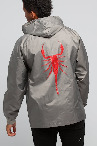 Goat Crew Red Scorpion Windbreaker Grey