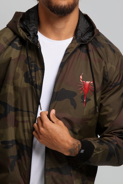 Goat Crew Red Scorpion Windbreaker Camo