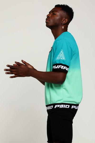 Black Pyramid Dip Dye Pastel SS Crewneck Mint Green