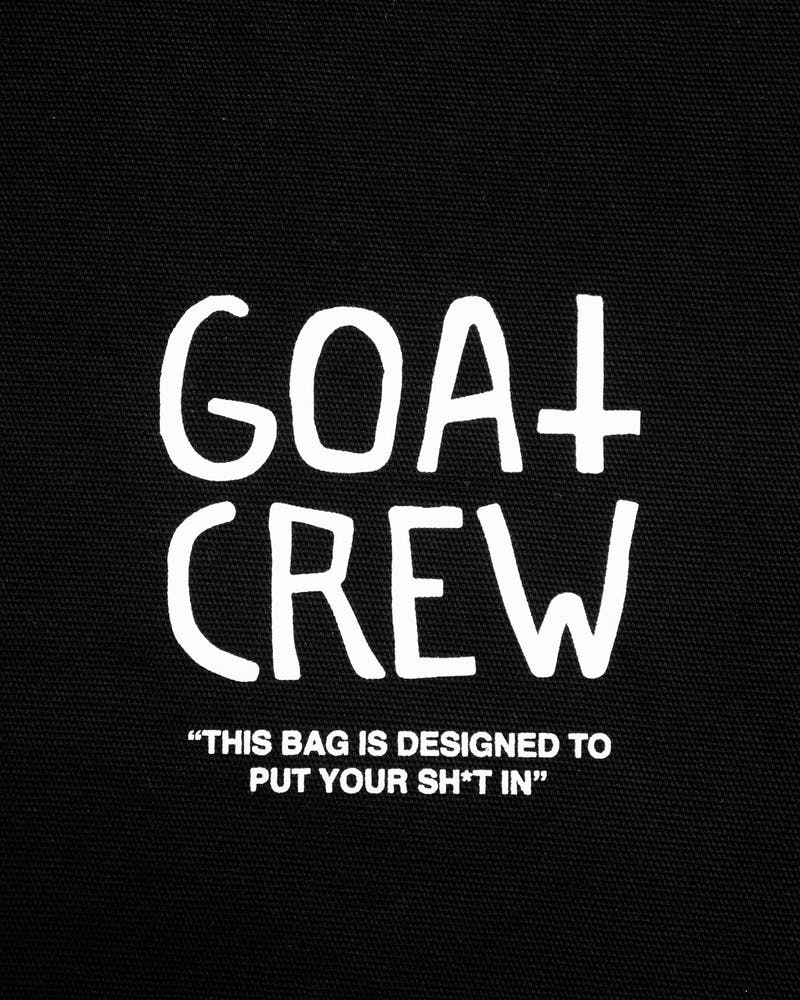 Goat Crew Six Gods Spray Tote Bag Black