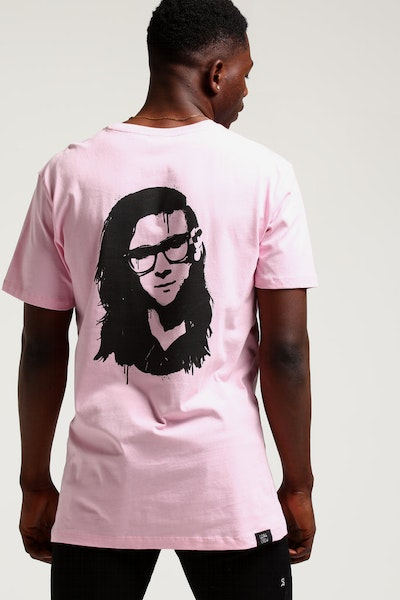 Goat Crew Skrill Spray Tee Pink