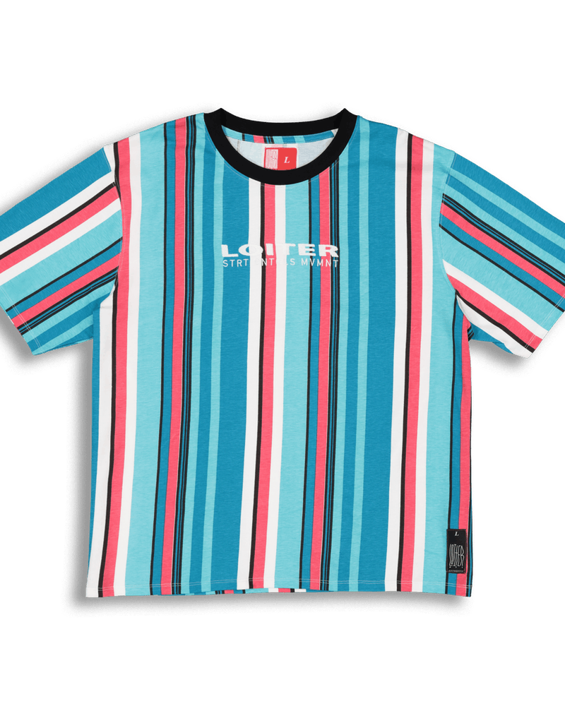 Loiter NYC Fruit Salad Tee Blue/Pink