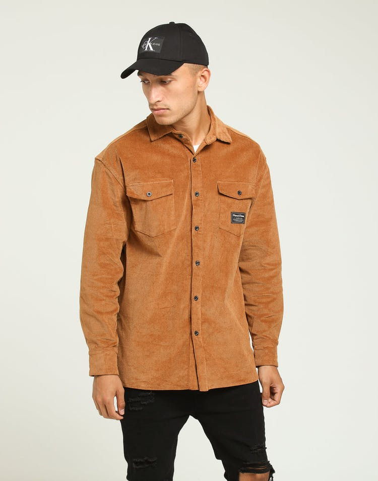Grand Scheme Corduroy Button Up Toasted Peanut