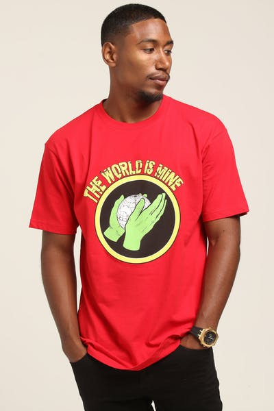 SKEPTA Merch The World Is Mine Tee Red