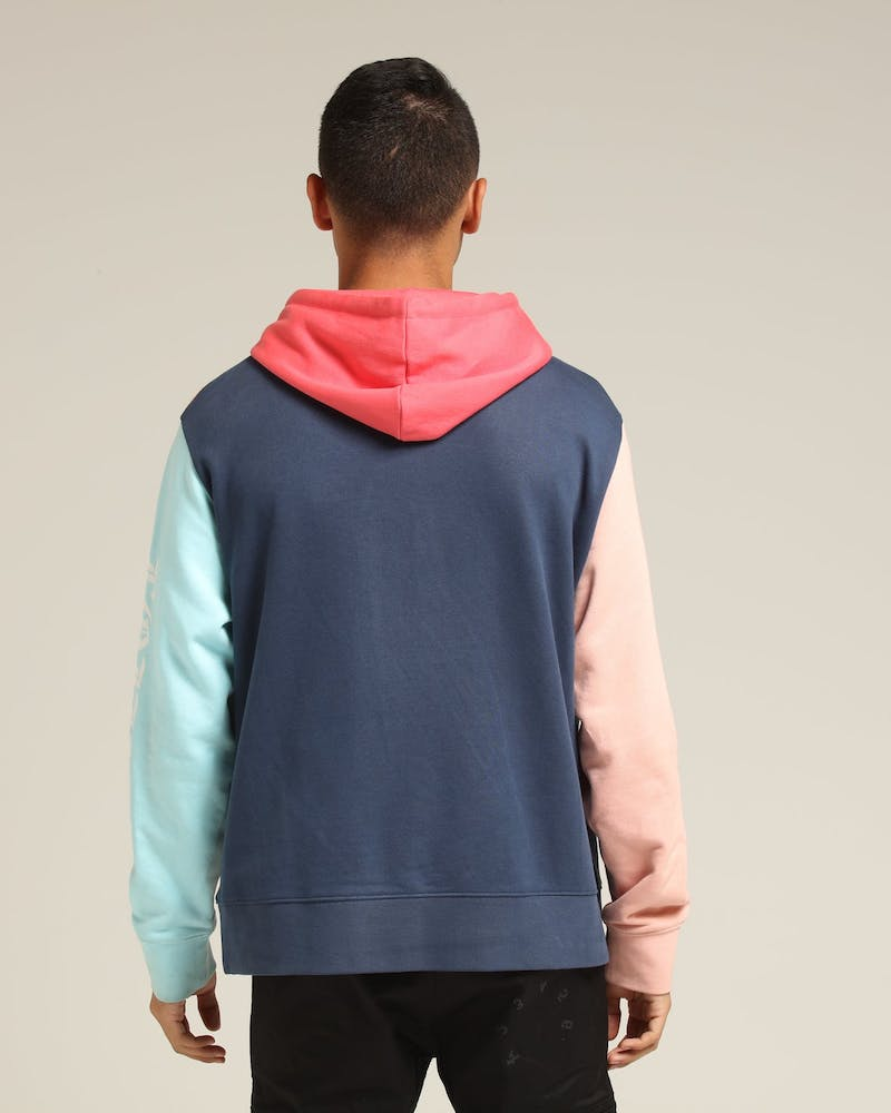 Loiter NYC Pastal Colour Block Hood Pink/Blue/Navy