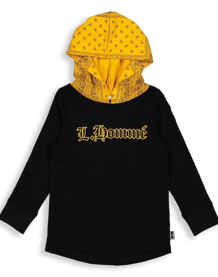Lil Hommé LH Bandit LS Hooded Tee Black/Yellow