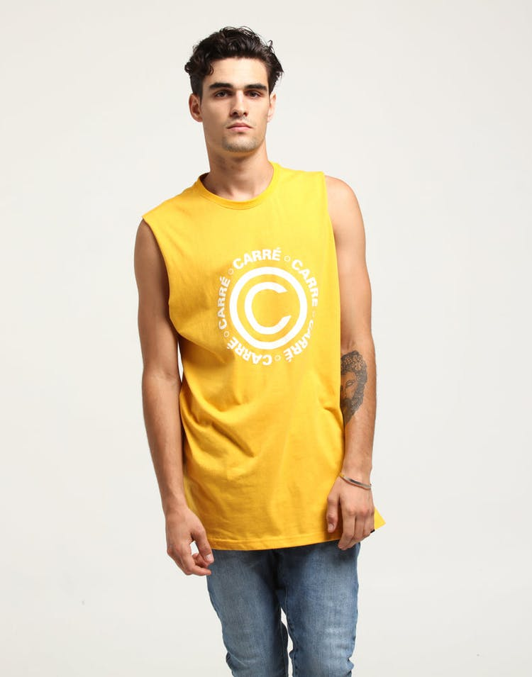 3222fb2f CARRÉ CERTIFIED DIVISE MUSCLE TEE YELLOW – Culture Kings NZ