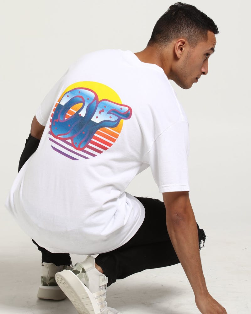 Odd Future X Culture Kings Neon Sunrise Tee White