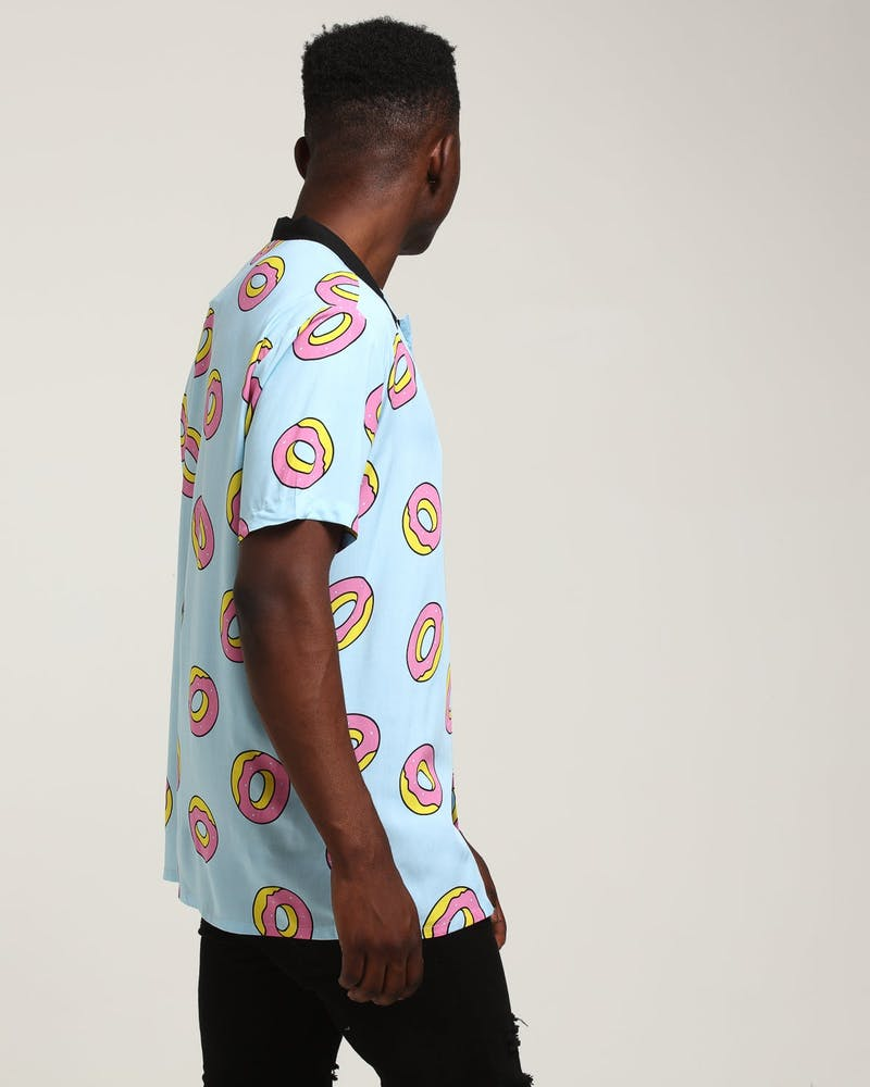 Odd Future X Culture Kings Donut Party Button Up Blue