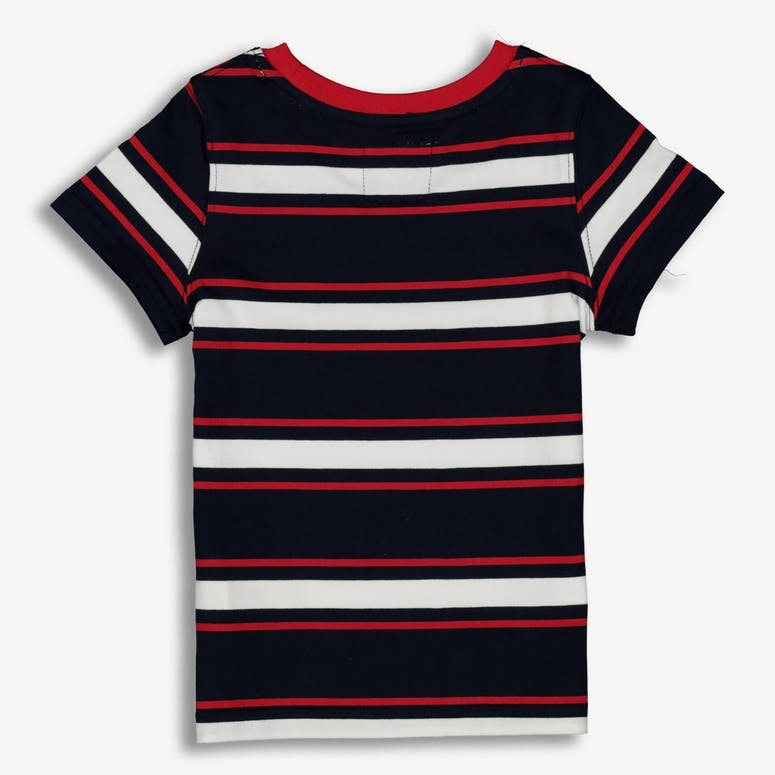 Lil Hommé Double Classique SS Tee Navy/White/Red