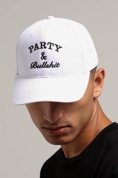 Goat Crew Party   Bullshit Strapback White 9b07b98ea92f