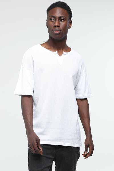 New Slaves Weave Tee White