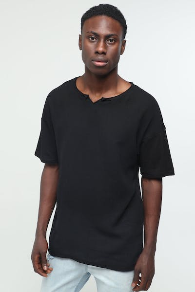 New Slaves Weave Tee Black
