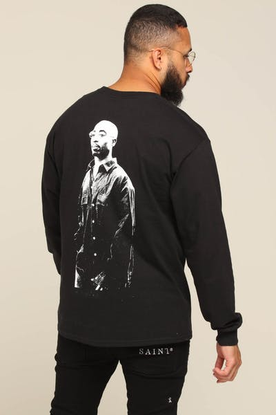 Tupac Lyrics L/S Tee Black