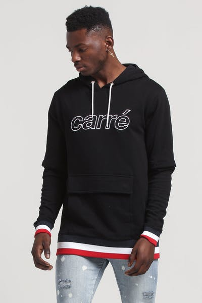 Carré Bouton Hood Black