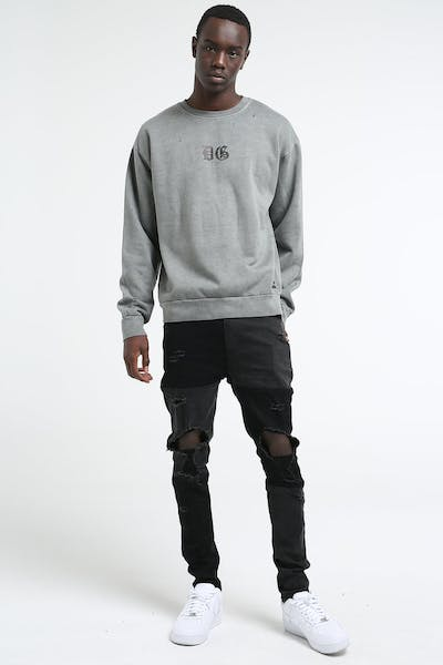 District Goods Vanish Crew Charcoal