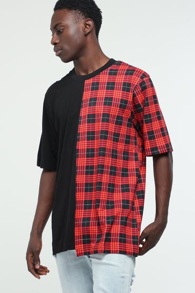 New Slaves Split Tee Black/Tartan