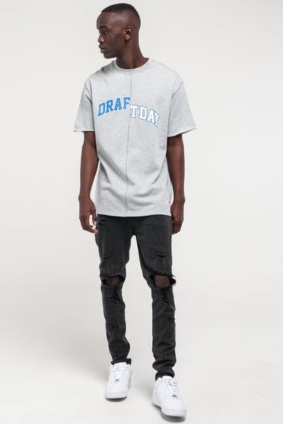 Draft Day Super Sweat SS Crewneck Grey Marle