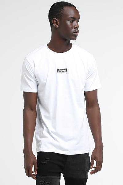Elevn Lowered Box SS Tee White