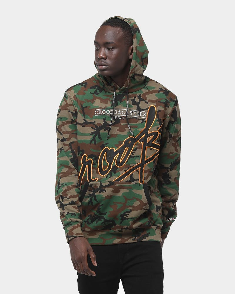 Crooks & Castles Splash Script Camo