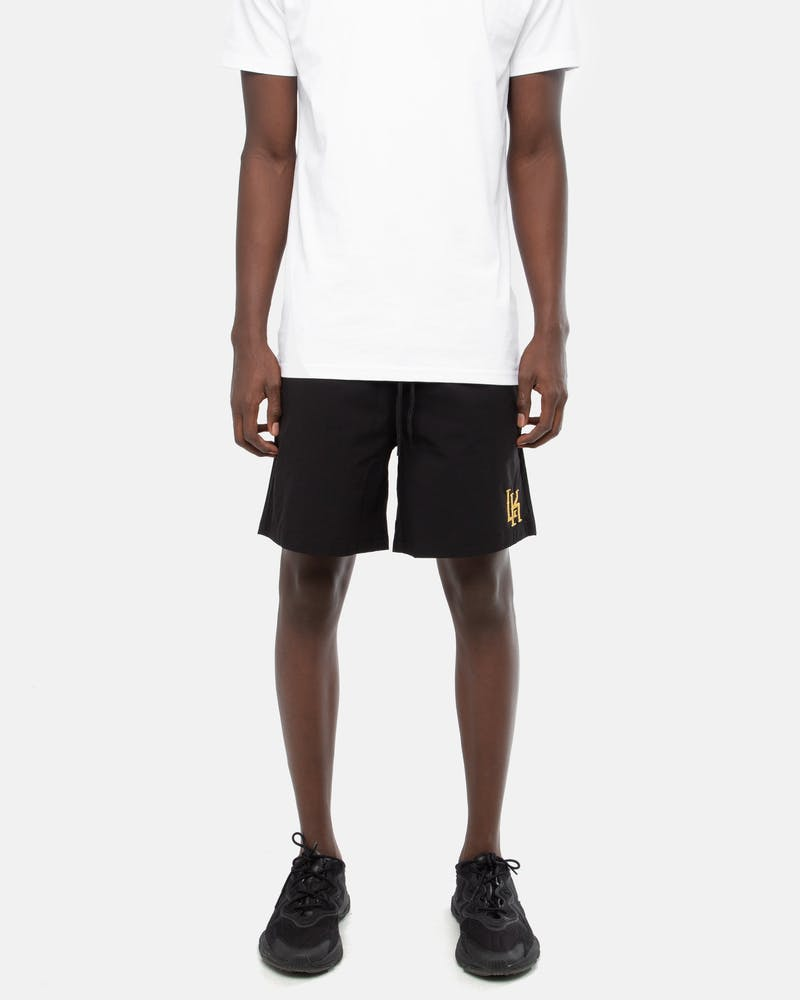 Last Kings Monogram Beach Shorts Black/Gold