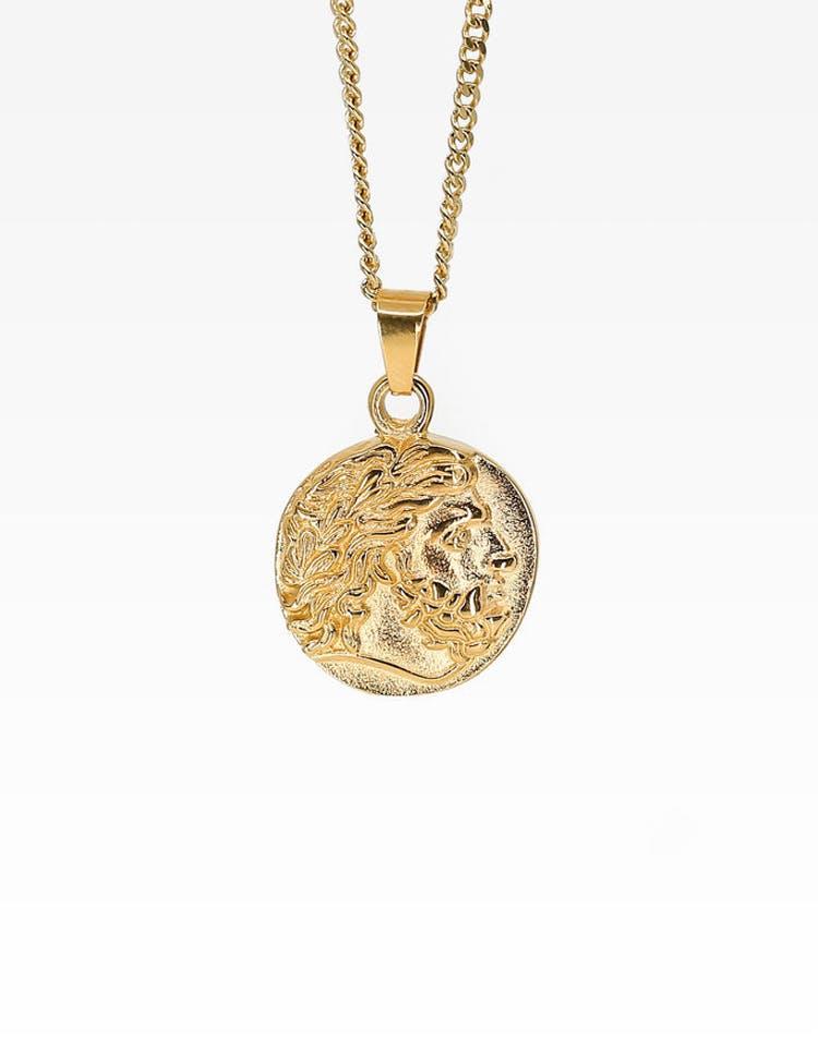 338477d339b Midnight City Zeus Pendant & Chain Gold – Culture Kings NZ