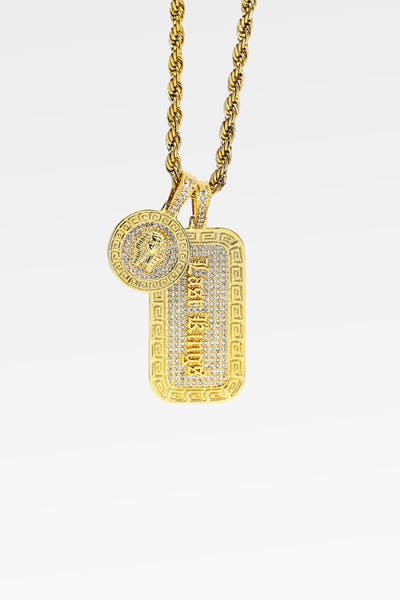 LAST KINGS OPULANCE PENDANTS & CHAIN SET GOLD