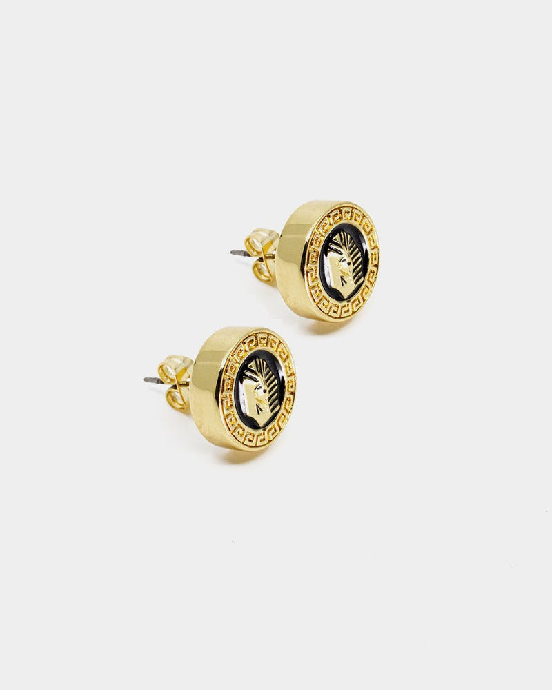 Last Kings Pharaoh Earrings Gold/Black