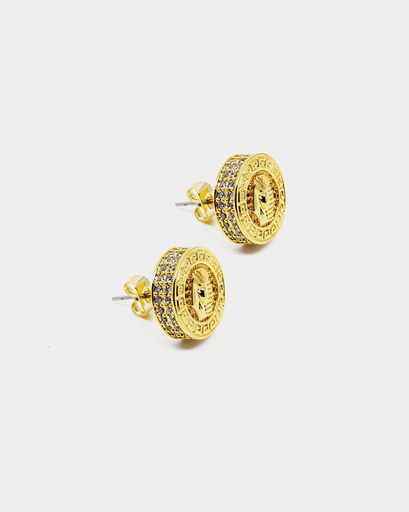 Last Kings Pharaoh Earrings Gold/Iced Gold