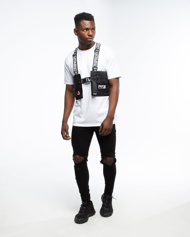 Black Pyramid Splinter Solid Military Vest Black