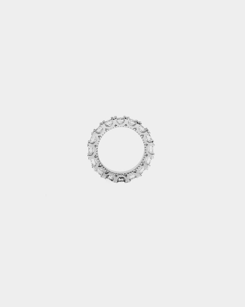 SAINT MORTA 5MM ICED RING BAND ICED WHITE GOLD