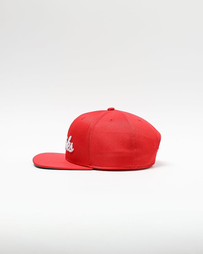 Crooks & Castles Script Snapback Off Red