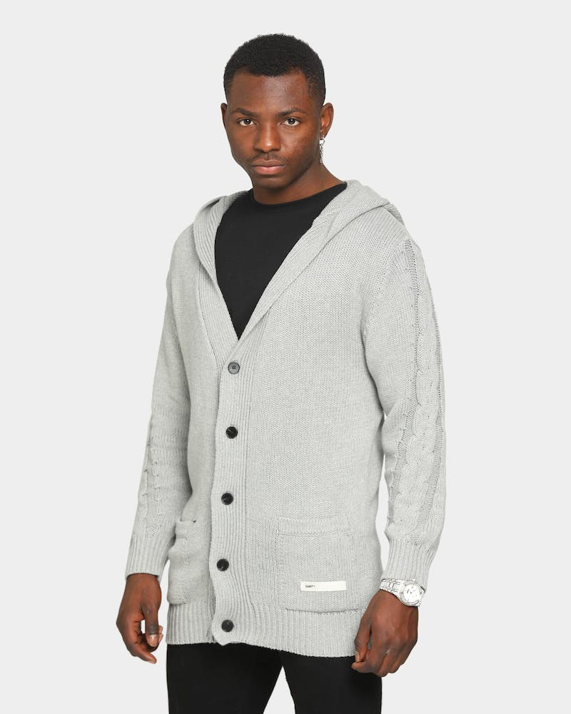 Saint Morta Crusader Cable Knit Cardi Grey