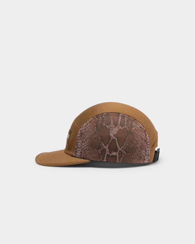 Supreme Snakeskin Mesh Camp Cap Brown