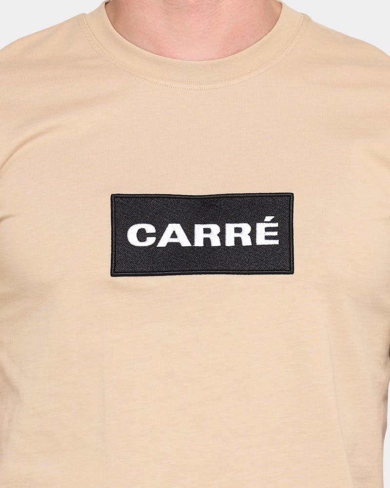Carre Box Classique Short Sleeve T-Shirt Stone/Black