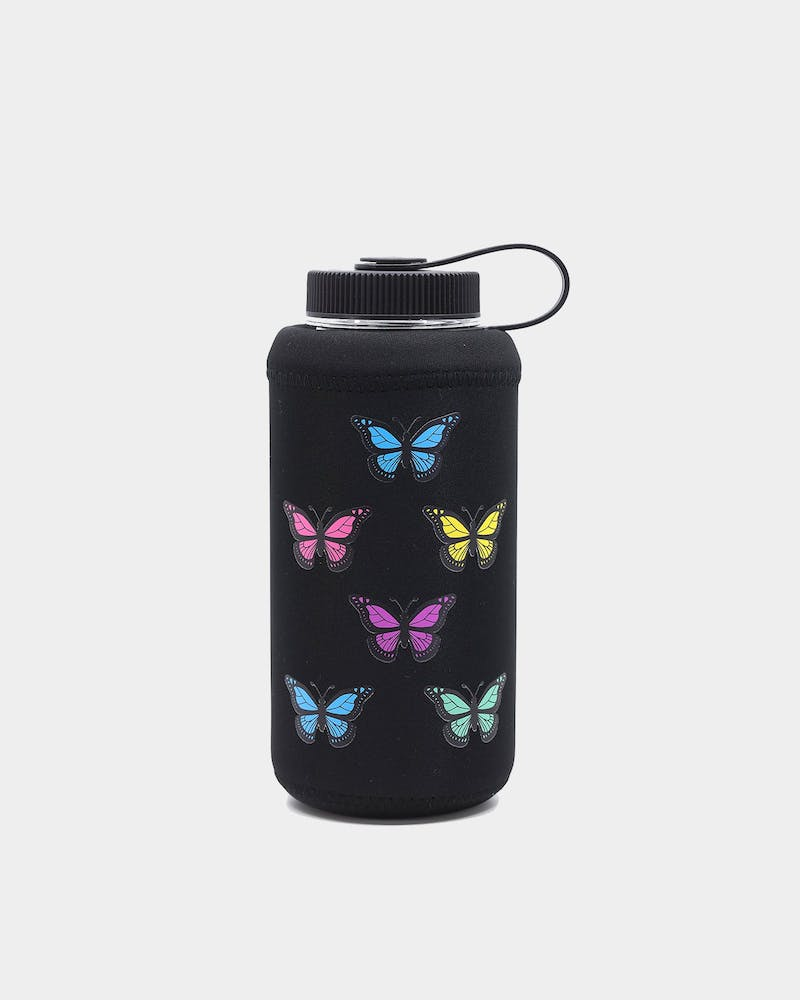 Goat Crew Butterfly Drink Bottle Sleeve Black/Multi-coloured
